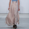 Satin Cutout Skirt