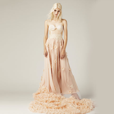 Ruffled Evening Gown