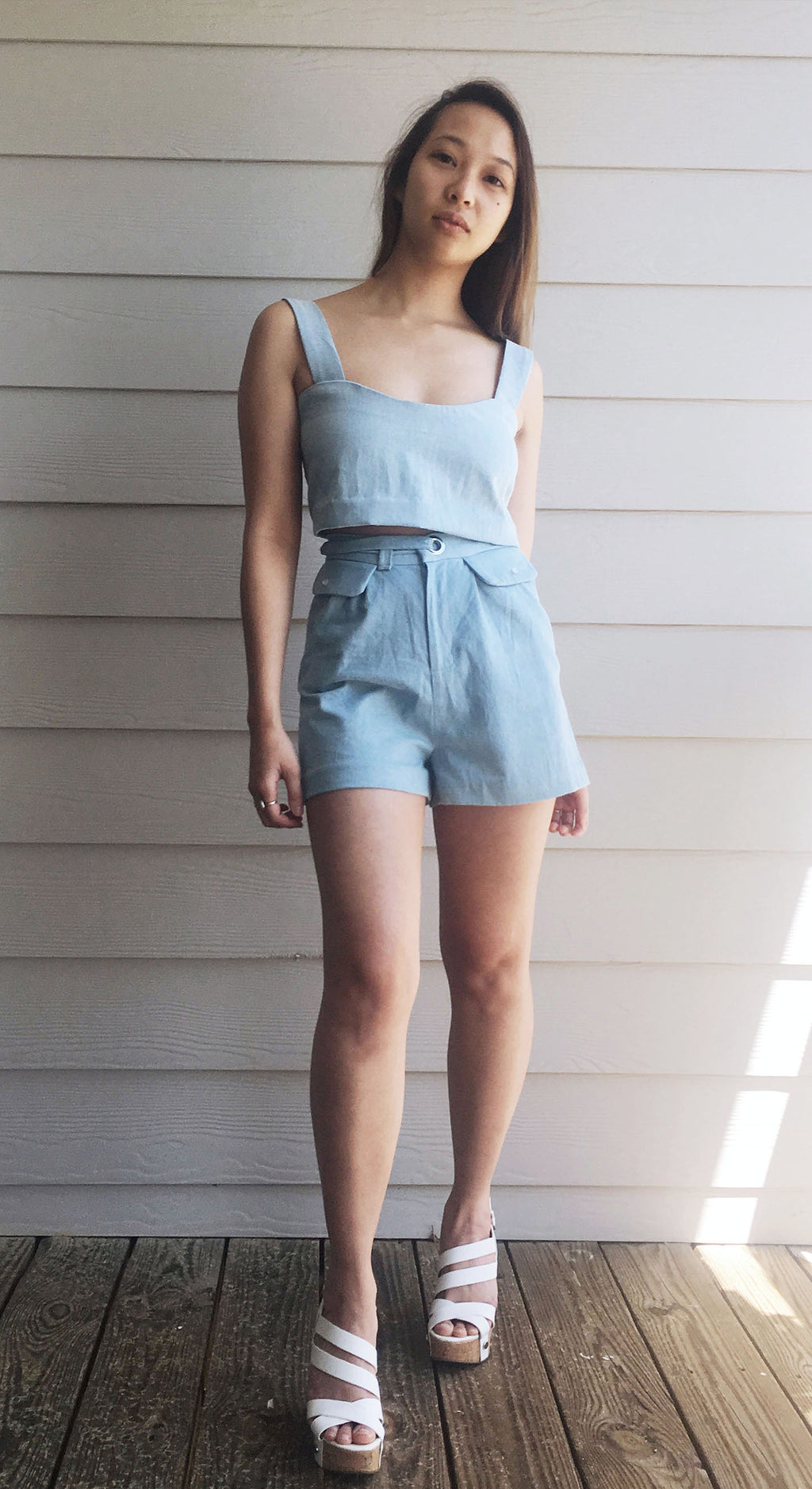 Two Piece Denim Set - Lisa N. Hoang