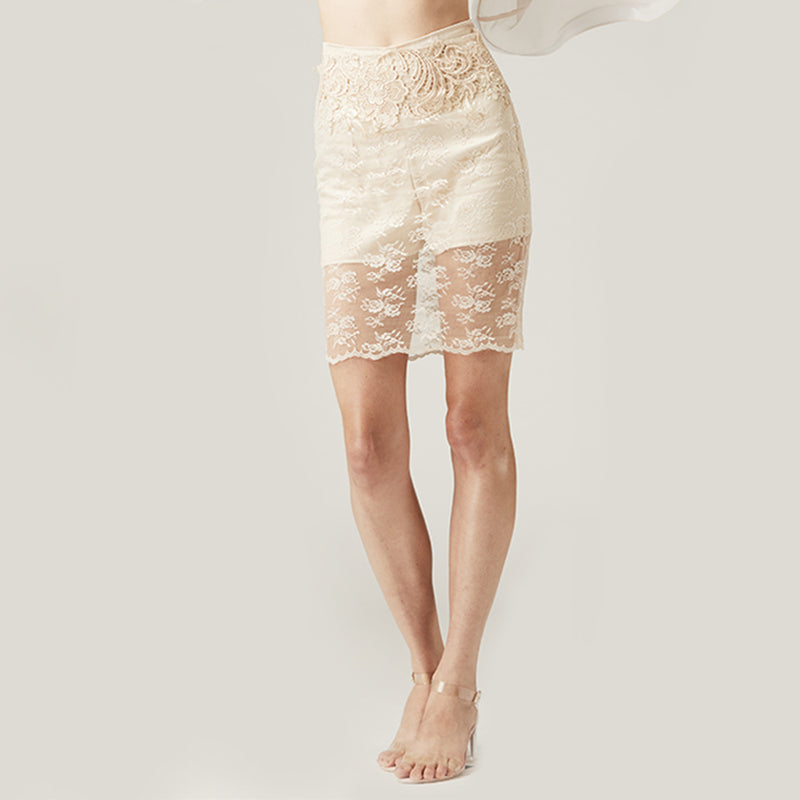 Lace Skirt with Shorts