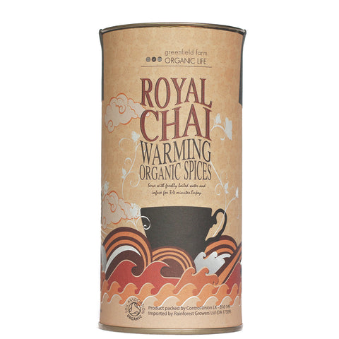 MASALA CHAI : USDA Certified Organic Herbal Spice Infusion (Black Tea, Cardamom, Cinnamon, Ginger, Vanilla, Pepper, Clove)