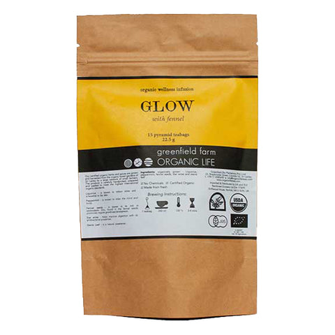 GLOW WITH STAR MIX – 15 NON-WOVEN PYRAMID TEA BAGS-Organic USDA Certified