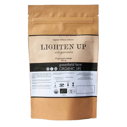 LIGHTEN UP WITH GARCINIA – Organic USDA Certified Herbal Infusion Tea [ Iramusu (Hemisdesmus Indicus), Ceylon Green Tea, Garcinia, Peppermint ]