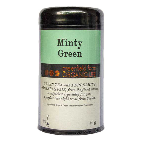 MINTY GREEN TEA - Organic USDA Certified