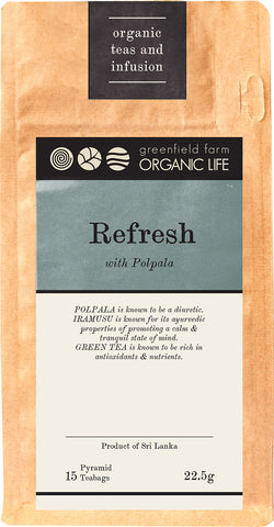 REFRESH WITH POLPALA – Organic USDA Certified Herbal Infusion Tea [ Polpala, Iramusu (Hemisdesmus Indicus), Ceylon Green Tea ]