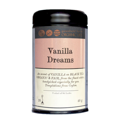 VANILLA DREAMS : USDA Certified Organic Herbal Infusion Tea ( Black Tea, Vanilla )
