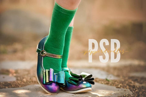 [Rainbow Peacock] Pipperdoodles Bow Shoes