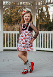 [Red, White + Black] Pipperdoodles Bow Shoes