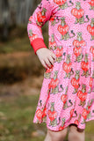 """Wild About You"" Pink Leopard [Basics Collection] Valentine's Dress"