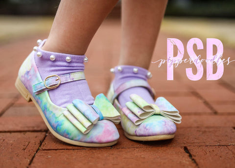 [Pastel Watercolor] Pipperdoodles Bow Shoes