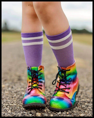 [Purple Striped] Socks