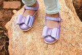 Pipperdoodles Iridescent Lavender Bow Shoes (READ DESCRIPTION)