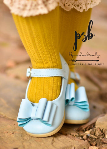 Smaller Sizes [Light Blue] Pipperdoodles Bow Shoes