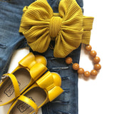 Pipperdoodles Yellow Bow Shoes (READ DESCRIPTION)
