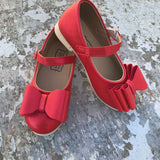 21/4 FLAWED RED Pipperdoodles Shimmer Bow Shoes (READ DESCRIPTION)