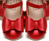 Pipperdoodles Red Shimmer Bow Shoes (READ DESCRIPTION)
