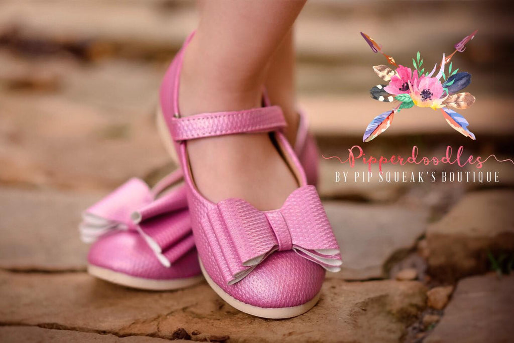 Pipperdoodles Pixie Pink Bow Shoes (READ DESCRIPTION)
