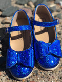 [Blue Sparkle] Pipperdoodles Bow Shoes