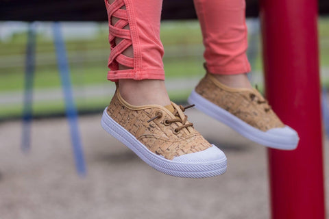 """Pip's Slips"" [Toddler + Youth] Faux Cork Slip-On Unisex Shoe (READ DESCRIPTION)"