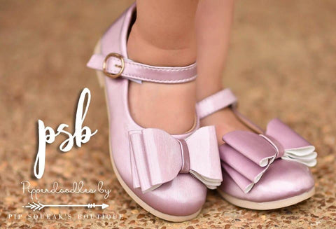 Pipperdoodles Orchid Mauve Bow Shoes (READ DESCRIPTION)