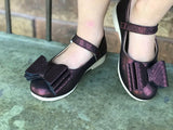 [Black Cherry] Pipperdoodles Bow Shoes