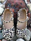 Pipperdoodles Light Leopard Bow Shoes (READ DESCRIPTION)