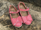 [Red + White Stripe] Pipperdoodles Bow Shoes