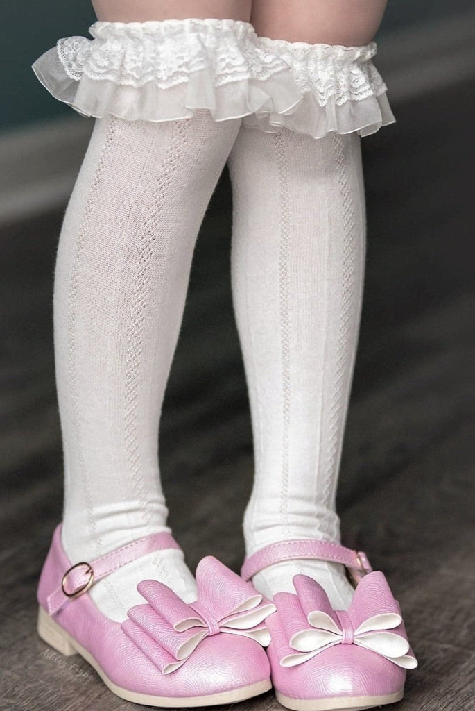 [Peony Light Pink] Pipperdoodles Bow Shoes