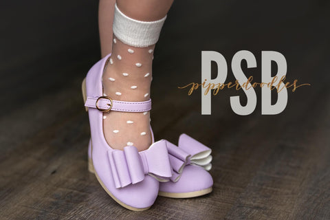 [Light Lilac Lavender] Pipperdoodles Bow Shoes