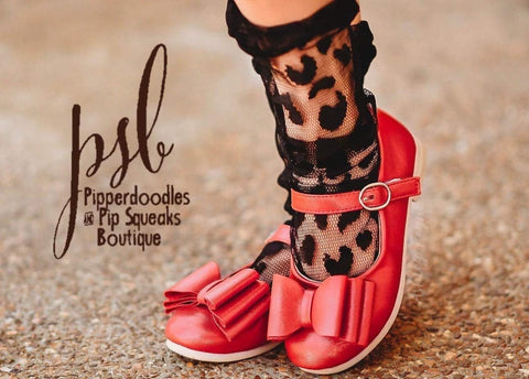 [Red Shimmer] Pipperdoodles Bow Shoes