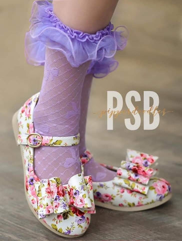 [Floral Blossom] Pipperdoodles Bow Shoes