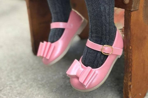 SOLD OUT Pearl Pink Bow Shoes