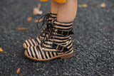 [Striped Cork] Pipperdoodles Boots w/ Buckles