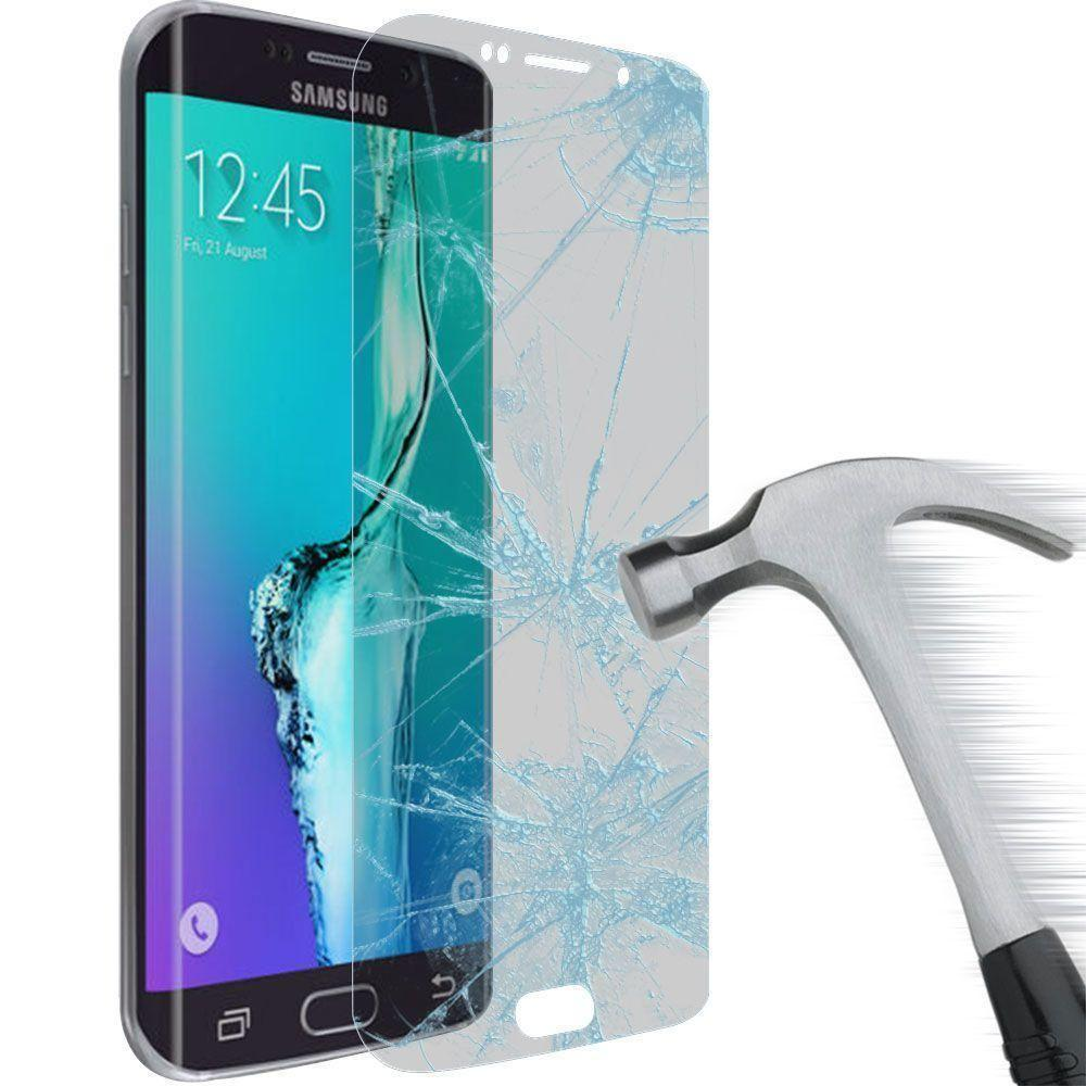 - Full Screen Tempered Glass Screen Protector, Clear/Silver for Samsung Galaxy S6 Edge Plus