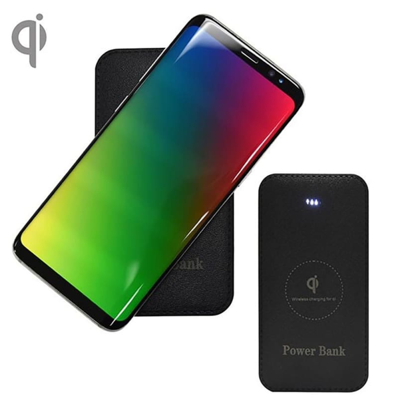 Portable Powerbank with Built-in Wireless Charging (6000mah), Black