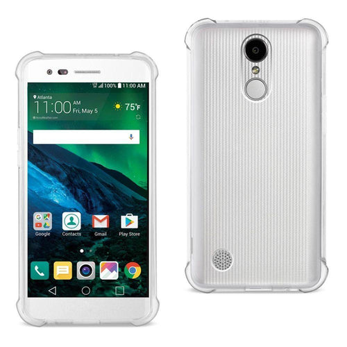 Lg K7 - Bumper Case with Air Cushion Shock Absorption, Clear