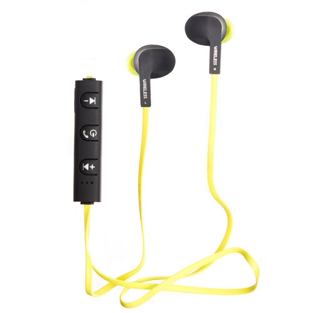 Droid 3 - C300 In-Ear Sports Wireless Bluetooth Headphones with mic and volume controls, Lime Green/Black