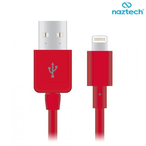 Apple Ipad 4th Generation - Naztech 3FT MFi Certified Lightning 8-Pin to USB Sync and Charge Cable, Red
