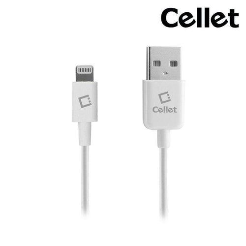 Apple Iphone 6s Plus - 4FT Cellet MFi Certified Lightning 8-Pin to USB Sync and Charge Cable, White