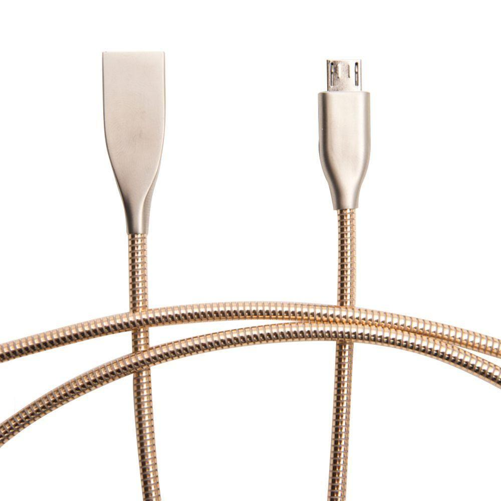Joy - Metal Heavy Duty Micro USB Charge and Sync Cable, Gold