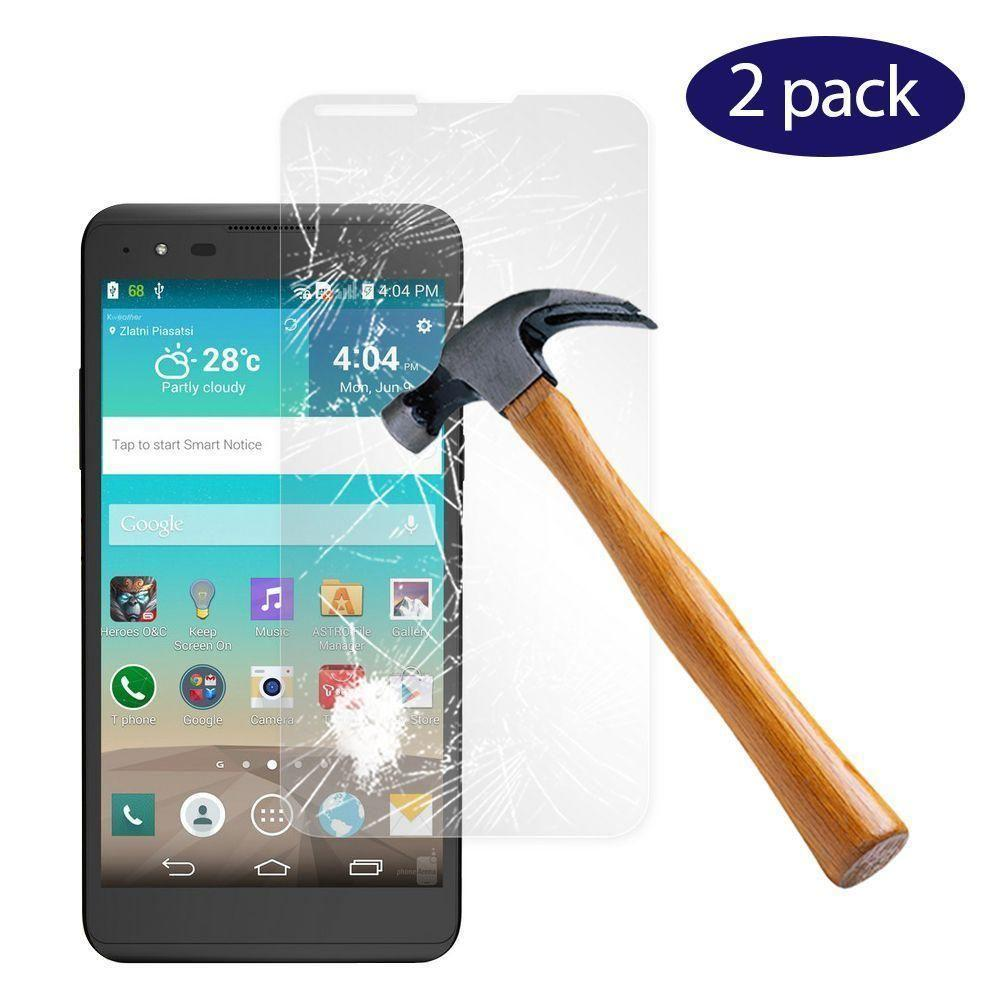 - 2-Pack Tempered Glass Screen Protector Combo, Clear