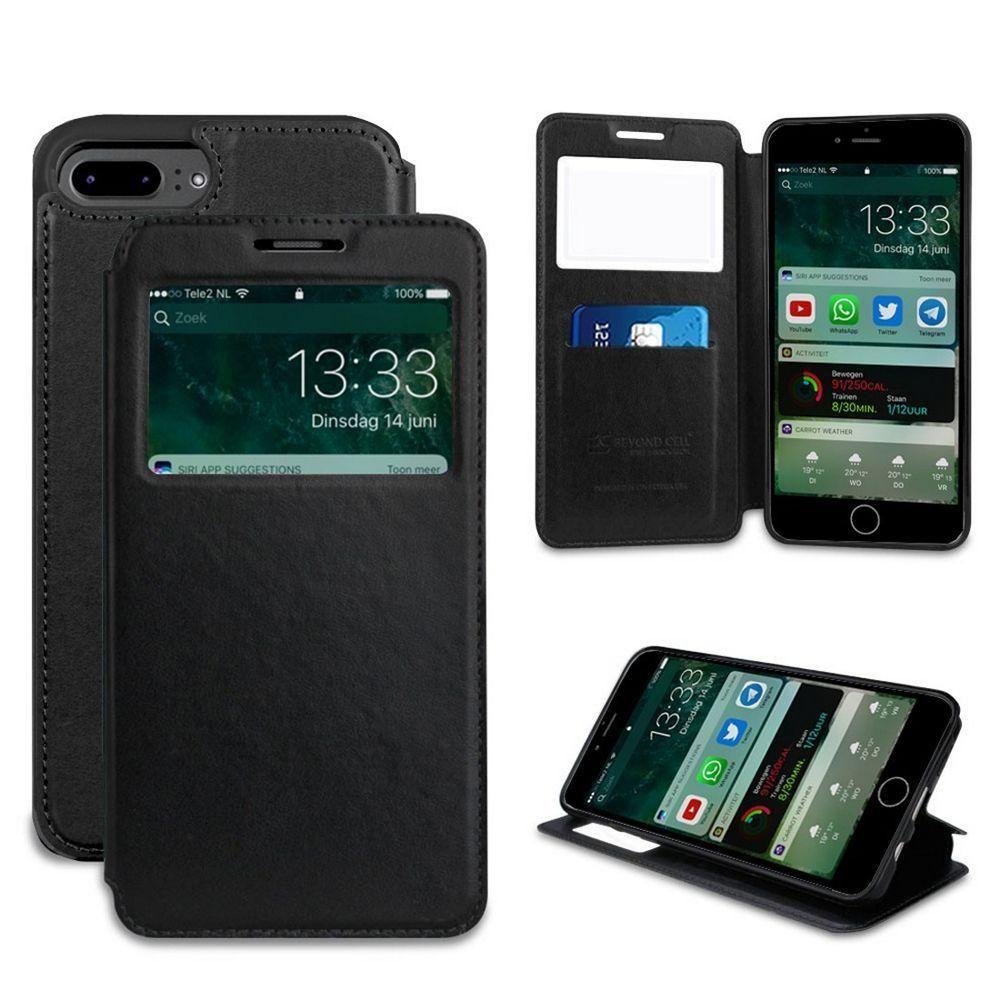 - Infolio Leather Open View Folding Wallet Phone Case, Black for Apple iPhone 7 Plus/iPhone 8 Plus