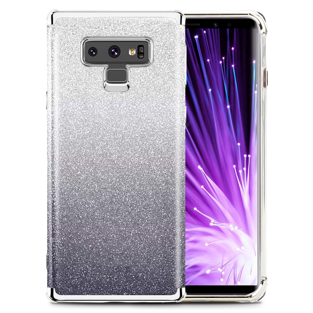 CLICK Elegant Series Slim Glitter Case with PC Metallic Bumper, Pink for Samsung Galaxy Note 9