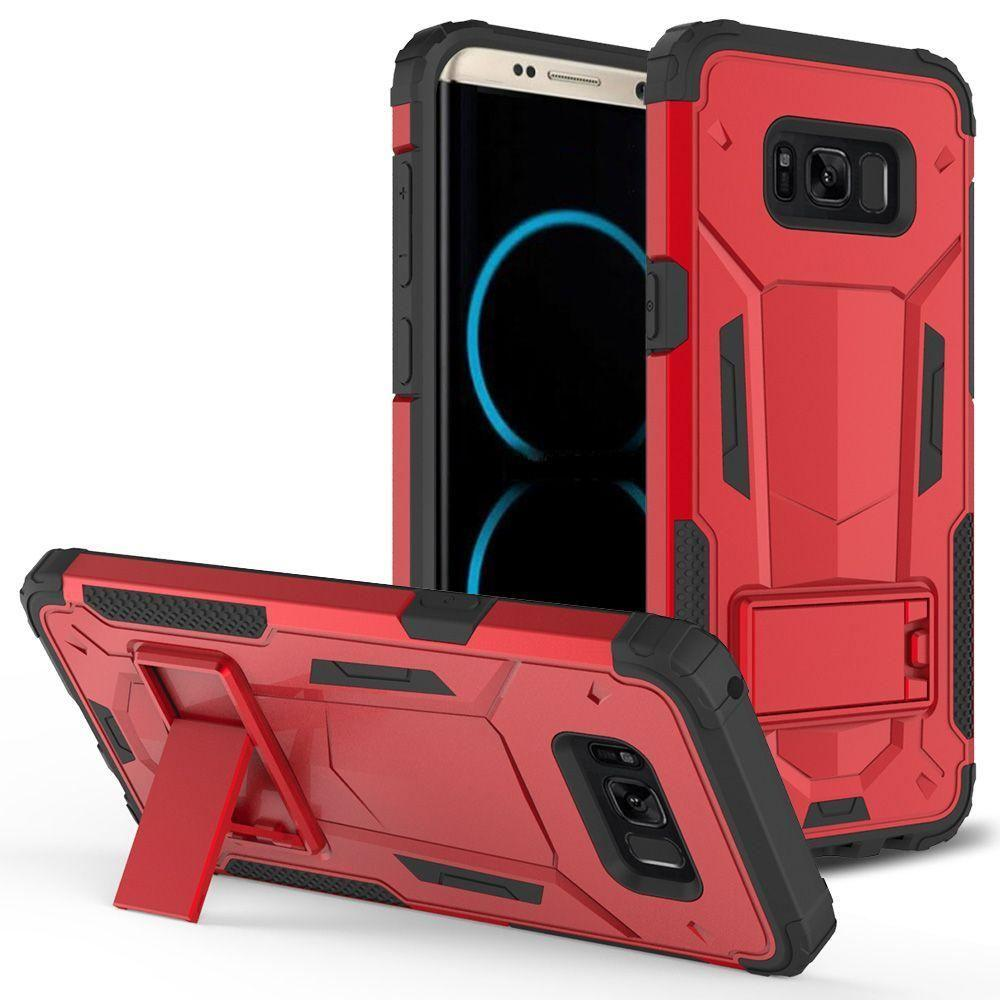- Hybrid Transformer Cover with kickstand, Red/Black for Galaxy S8 Plus