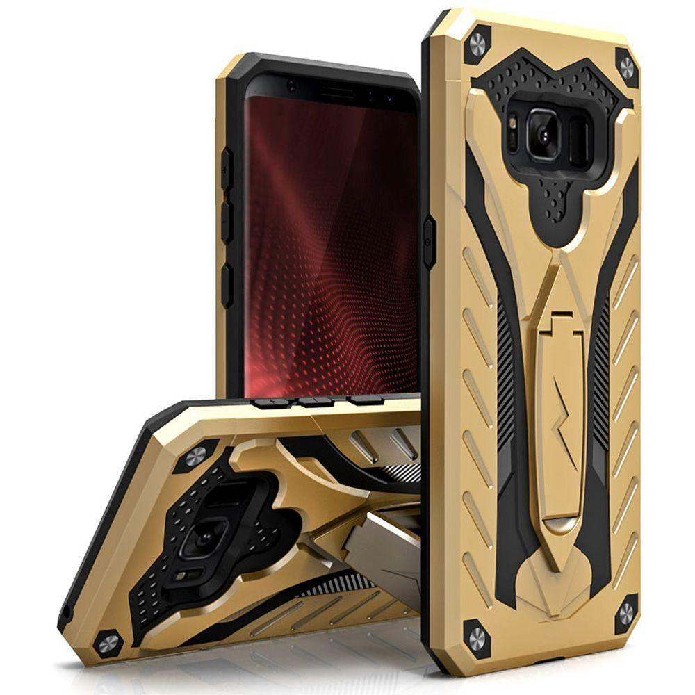 - Zizo Static Hybrid Rugged Case with kickstand, Gold/Black for Samsung Galaxy S8