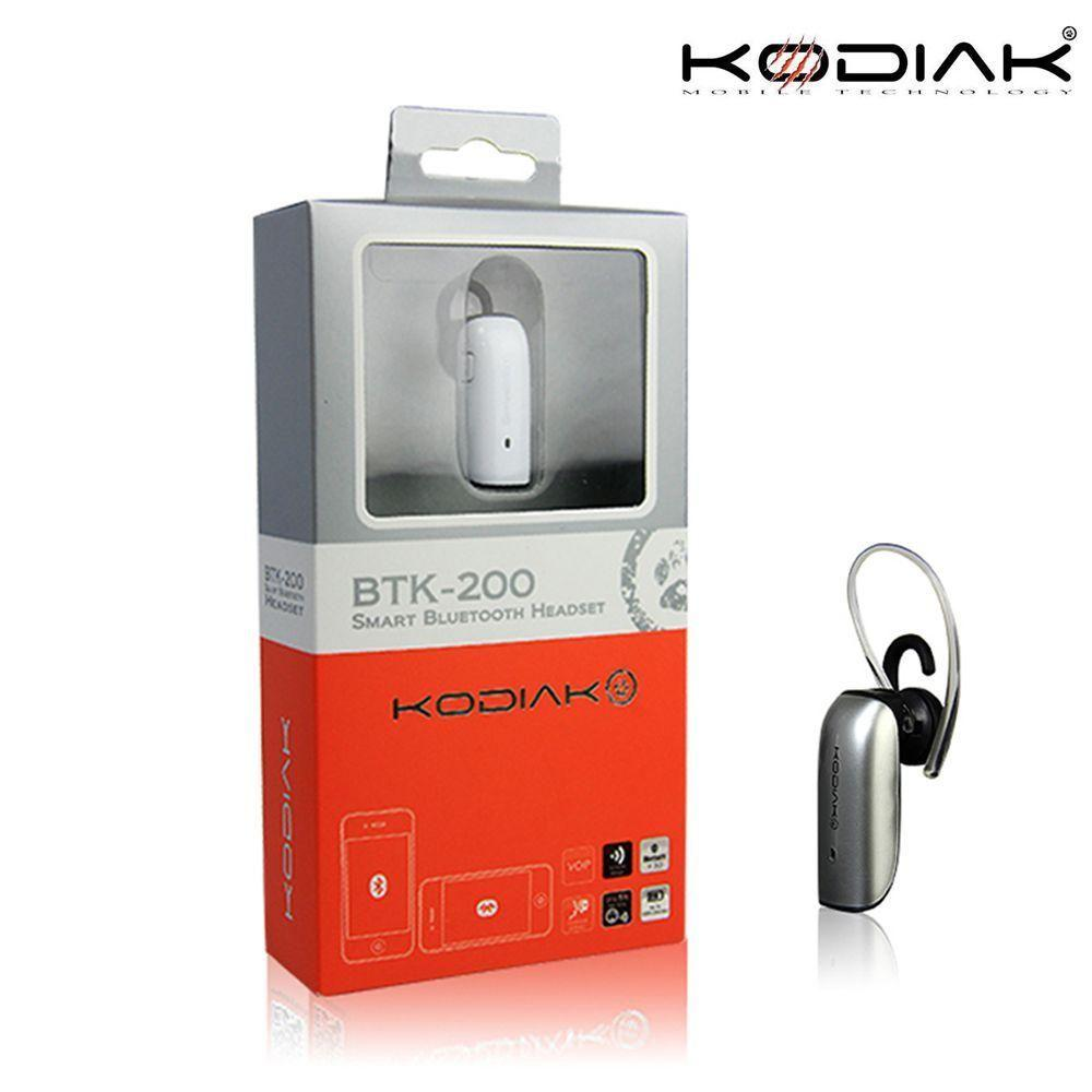 - Original Kodiak BTK-200 Mono Wireless Bluetooth Headset, Silver
