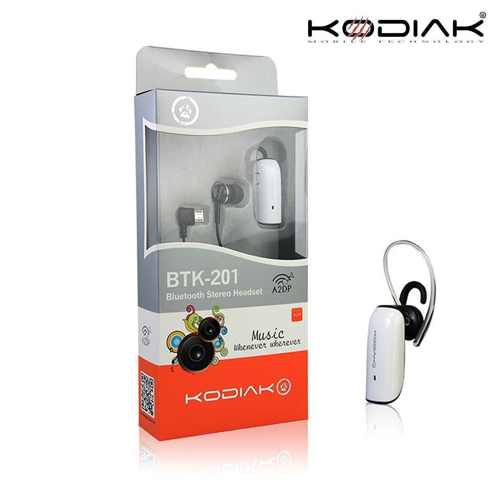 Droid 3 - Original Kodiak BTK-201 Multipoint Stereo Wireless Bluetooth Headset, White
