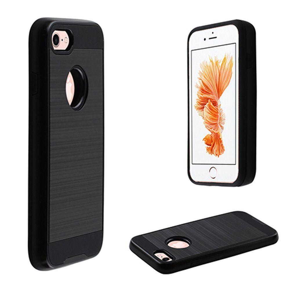 - Fusion Metal Design Hybrid Rugged Case, Black for Apple iPhone 7/iPhone 8
