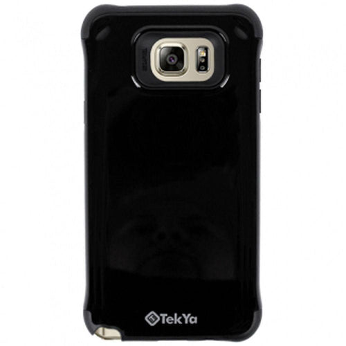 Samsung Galaxy Note 5 - TEKYA Anti-Shock with Silicone Inner Rugged Case, Black for Samsung Galaxy Note 5