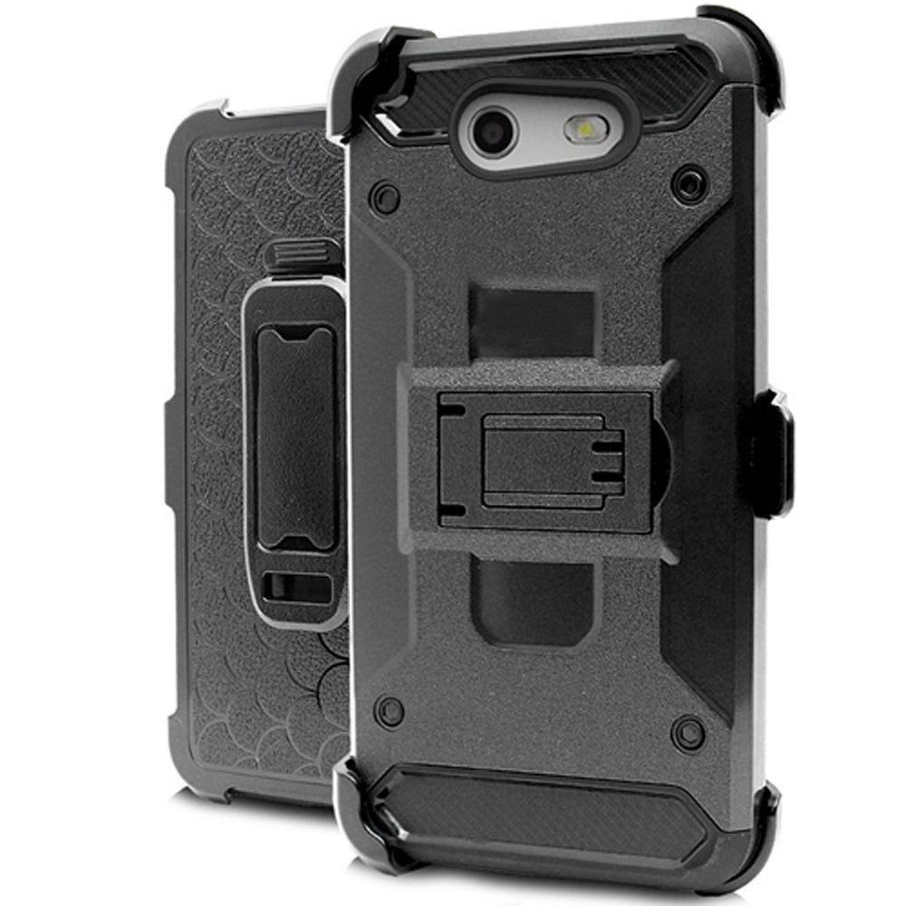 - Heavy Duty Tough Armor Case with Holster, Black